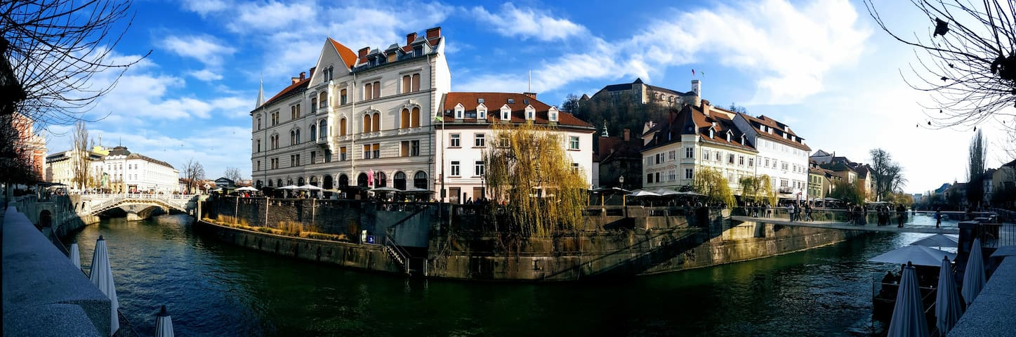 Apartment on Ljubljana Riverbank