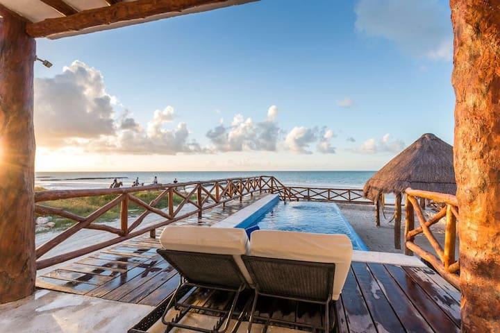 Casa Libelula Beachfront house. Holbox