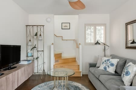 Walk to Neighborhood Restaurants from a Tranquil Guest Suite