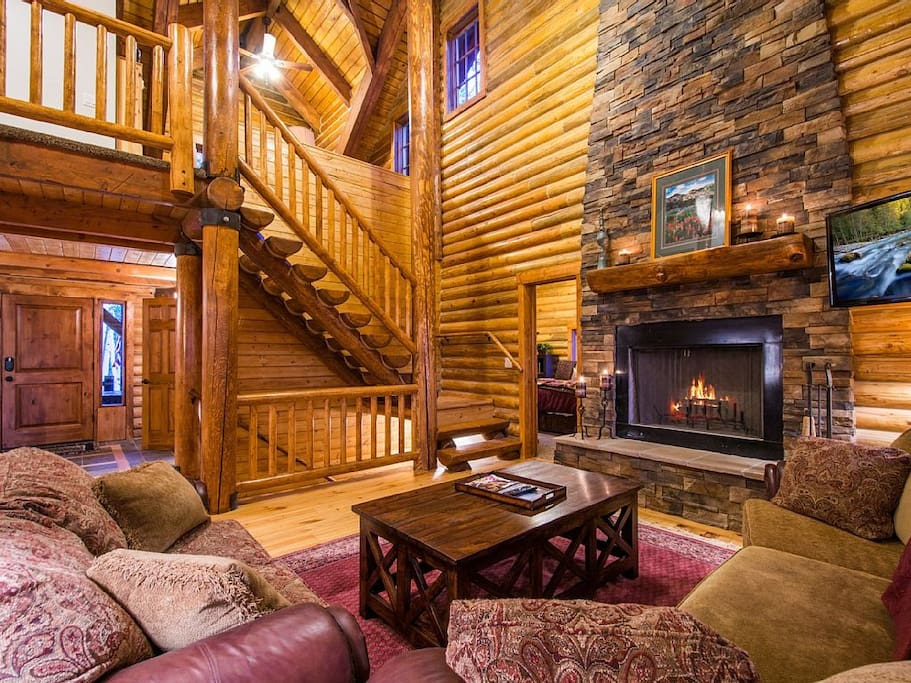 Well-Appointed Great Room with Wood-Burning Fireplace