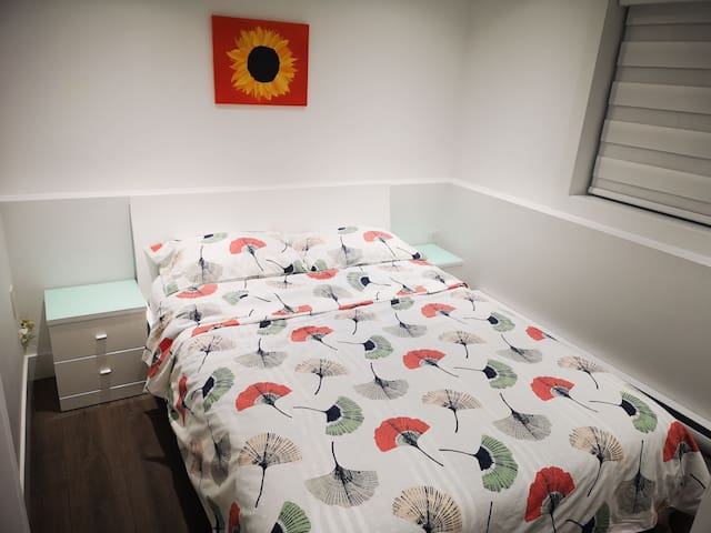 Bedroom 1 on Ground Level with Double Bed