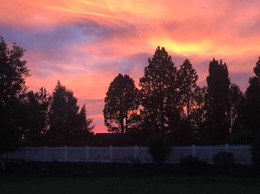 Sunset from the front yard