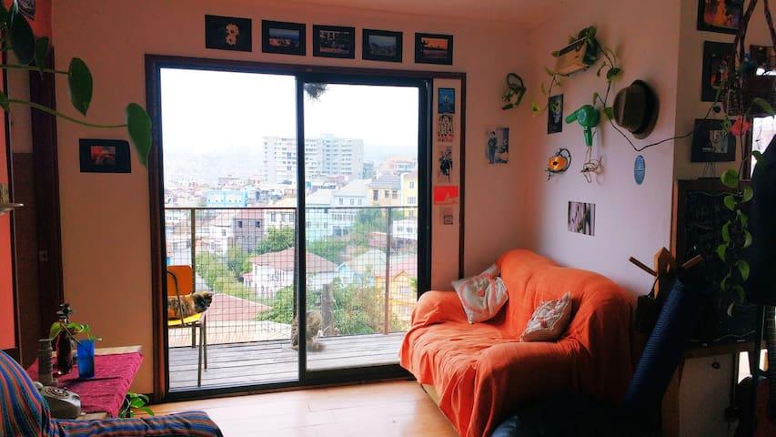 Habitacion con vista a la bahia de Valparaiso - Valparaíso - Casa