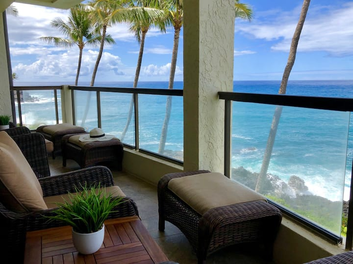Poipu Shores 304A: AC, Oceanfront, Beautiful Pool