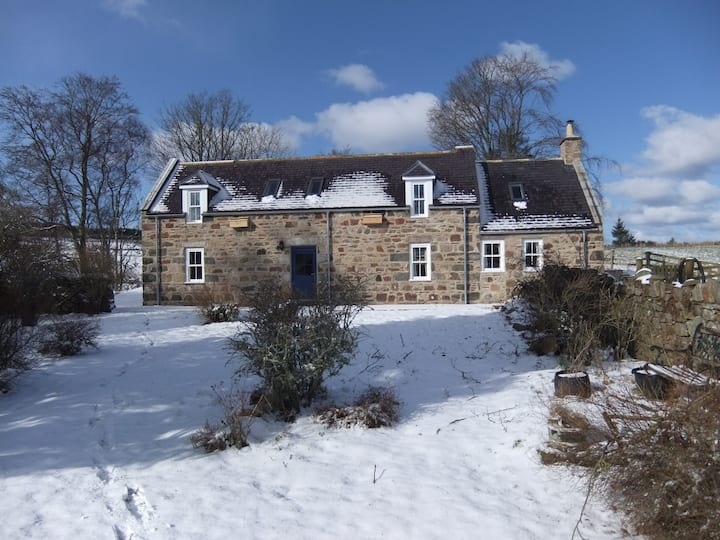 1861 stone crofthouse set in 200 acres of farmland