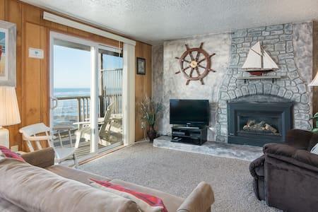 Tide Pool-Oceanfront, balcony, kitchen, fireplace