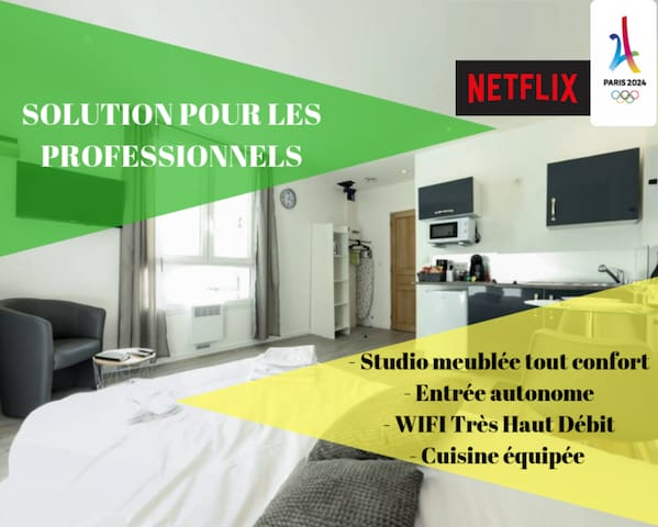 ★STUDIO COSY Concorde★Quartier Calme★ GRANDE TERRASSE PRIVATIVE