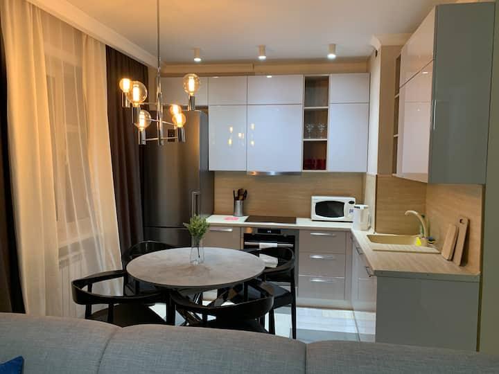 Современная квартира с дизайнерским ремонтом