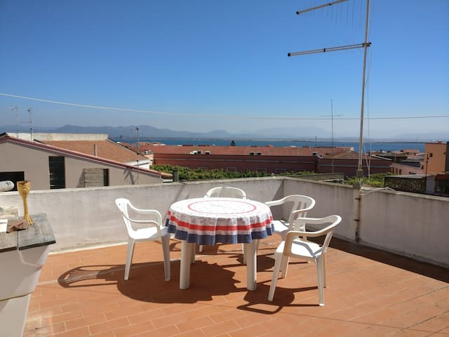 Lovely flat with beautiful view over the laguna. - Sant'Antioco - Apartment