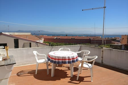 Lovely flat with beautiful view over the laguna. - Sant'Antioco - Lakás