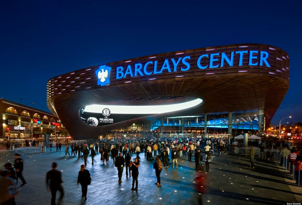 Barclays Center just steps away from the front door