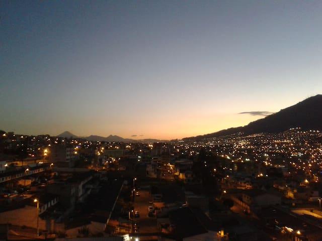 Suite con una hermosa vista de Quito