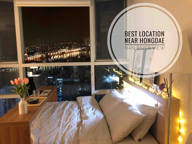 NEW❤️Near Hongdae River view30sec to STN Best place