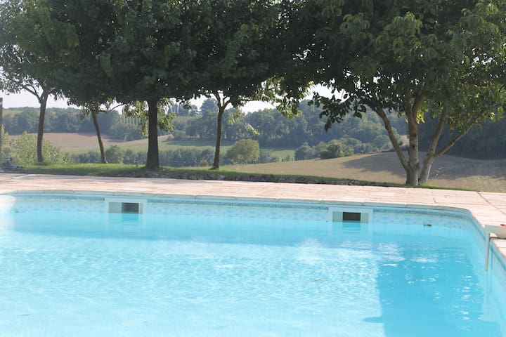 The heated outdoor pool which can be used by residents. Heated between June - September