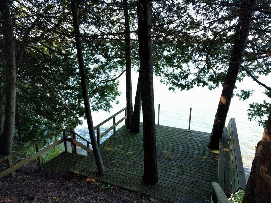 Hike the forest to the waterfront