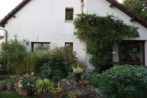 Uma casa na vegetação