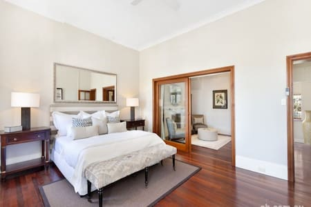 Large bedroom with adjoining lounge (2nd bedroom). - Balmain