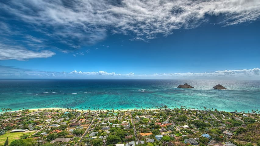 Luxurious Kailua 1BRApt, A/C, Kitchen, Walk2Beach.
