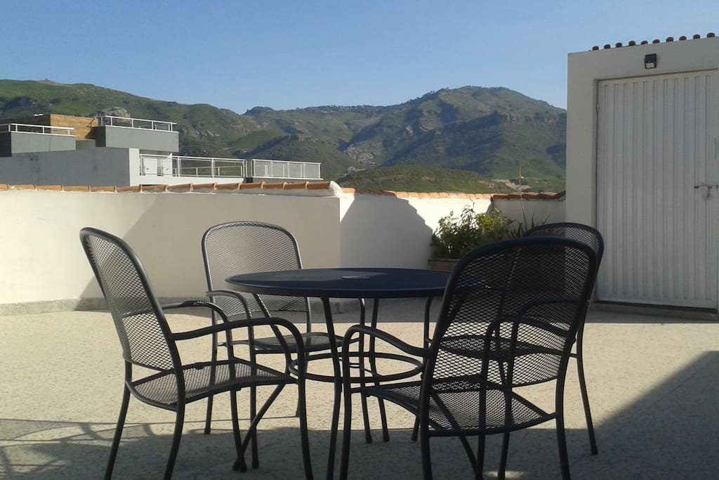 Roof Patio to Relax and enjoy views of Margalla Hills & Islamabad