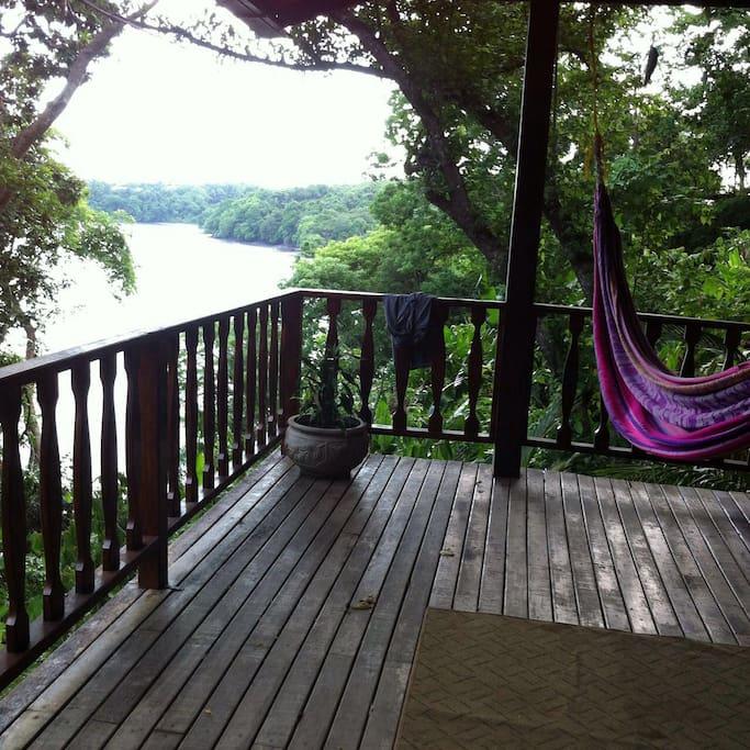 Peaceful balcony view