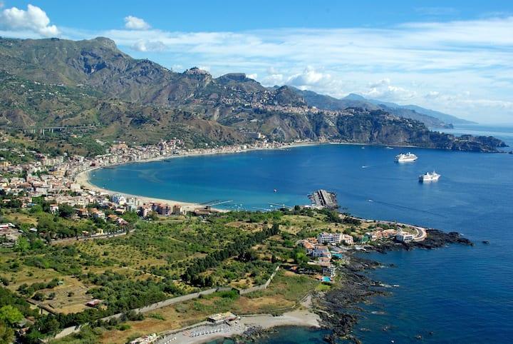 Villa Azzurra spiaggia san marco vicino taormina