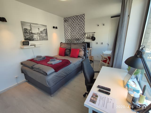 Boutique Apartment nahe HBF✔Homeoffice✔WLAN✔Balkon