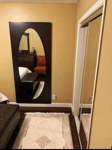 Beautiful luxury clean room with private bathroom