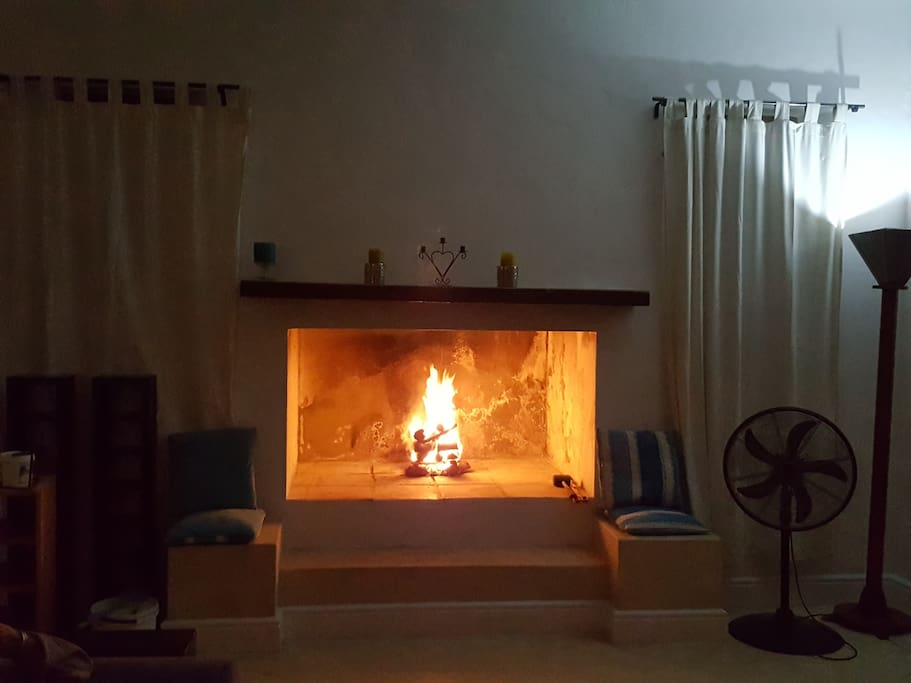 Cozy Large fire-place. Can arrange to buy wood
