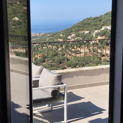 2B Corse Appart standing F3 étage vue panoramique