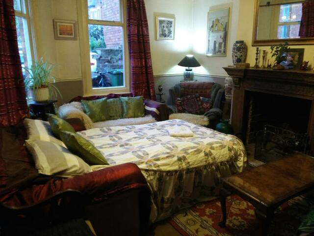 Cosy front room by Lincoln's west common.