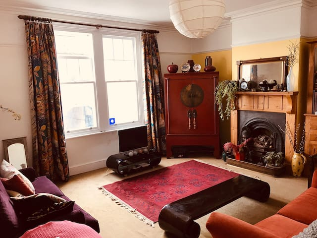 First floor double bedroom in comfortable home.