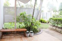 Relax and unwind amongst tropical garden