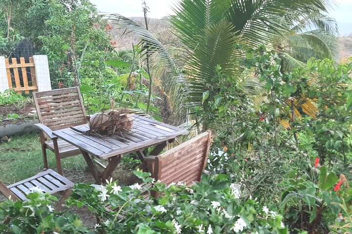 Appartement avec jardin et vue sur mer