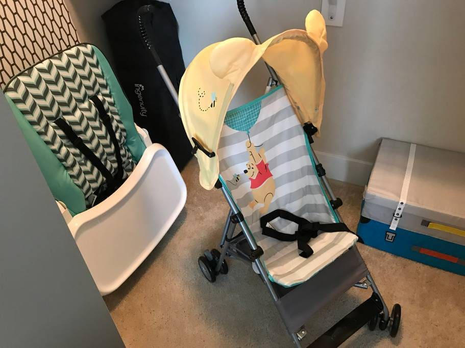Stroller, High Chair, and Pack n' Play