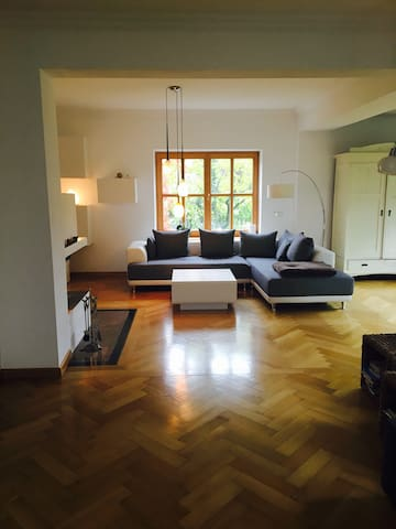 Large, central and cozy flat w/ own garden and fireplace