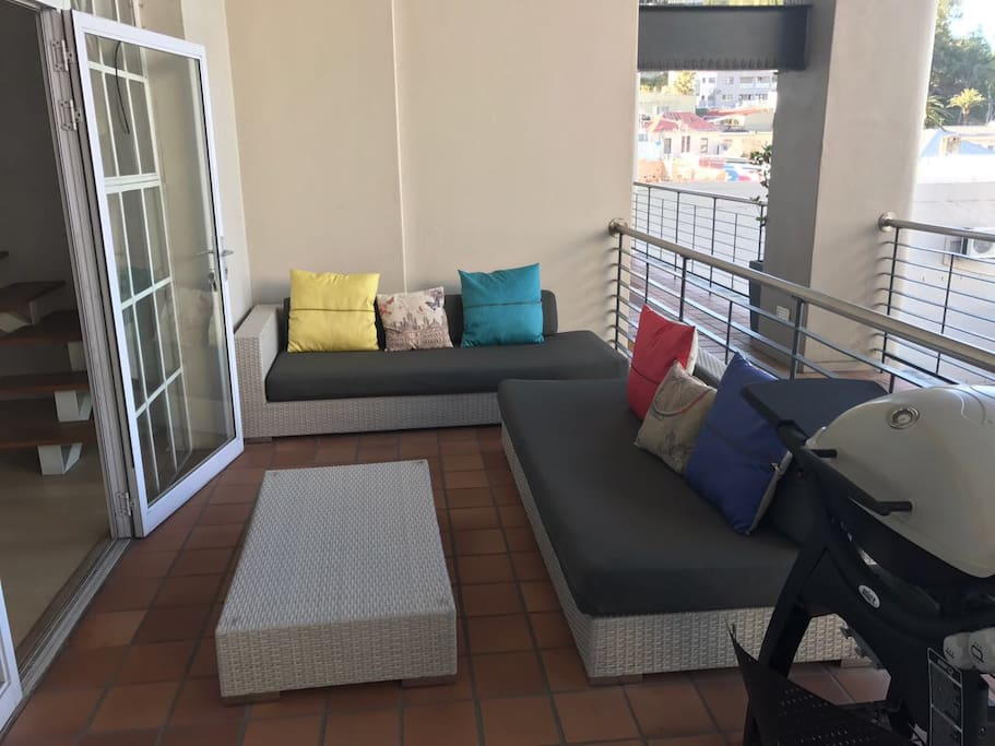 Private Balcony with Braai/Barbeque