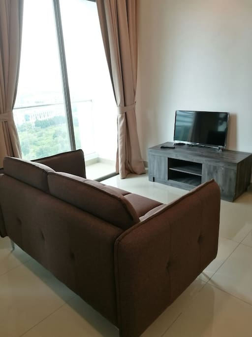 Tv and Sofa area