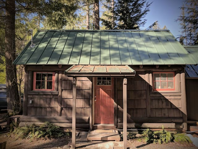 The Ohanapecosh Hot Springs Cabin at Mt. Rainier