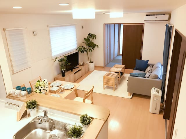 Brand new japanese house/100㎡/4 seperated bedrooms - Higashiyodogawa-ku, Ōsaka-shi - House
