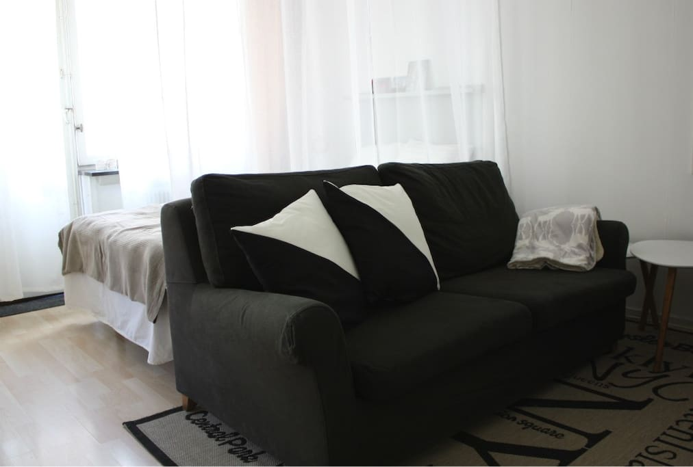 Two seat sofa,  approx. 140 cm.