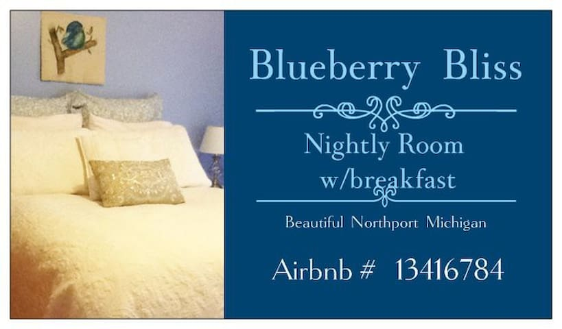 Blueberry Bliss Room w/ Breakfast - Northport - Bed & Breakfast