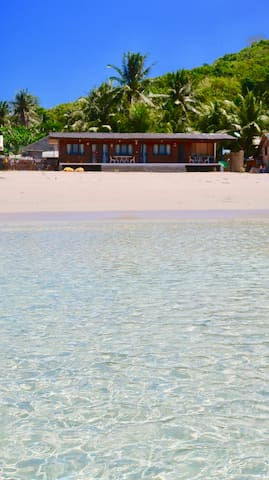 Fisherman's cottage is located on one of the most beautiful beaches in El nido.
