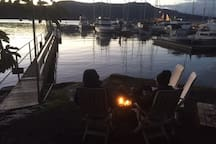 This photo was taken in the middle of winter! Relaxing sea-side by the fire as the sun went down! - A magical place indeed!