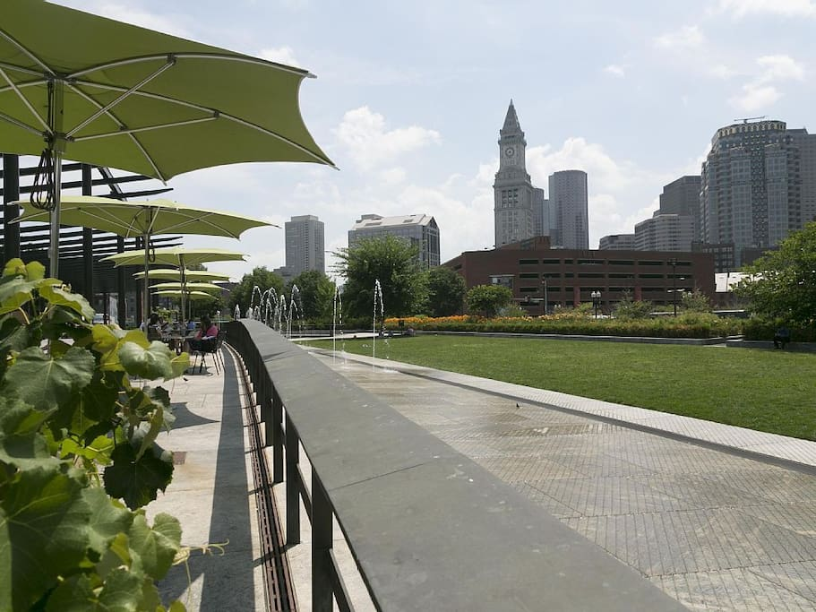 The Greenway. Few blocks away from the apartment