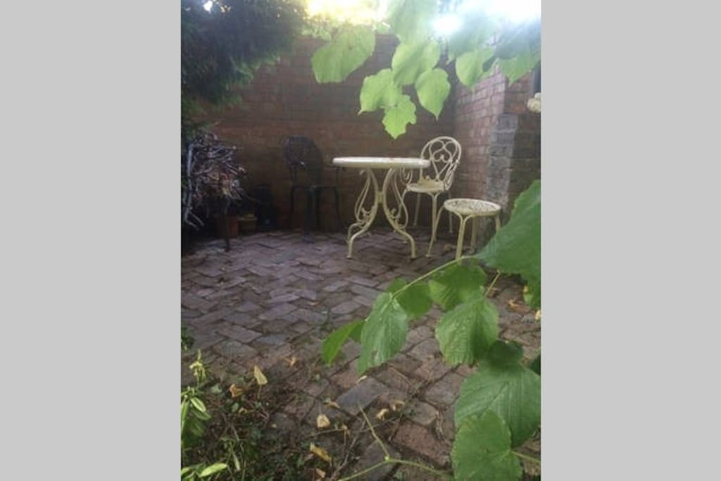 Private area in garden