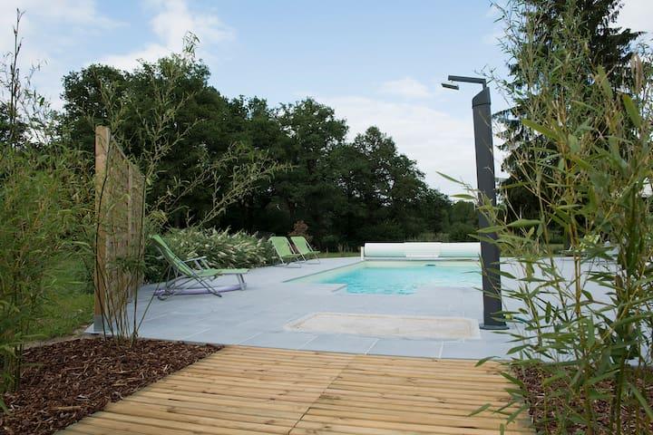 Gite 3 étoiles avec piscine  - 10 kms de Chambord