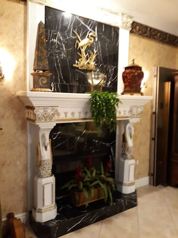 Fireplace in Guest Great Room