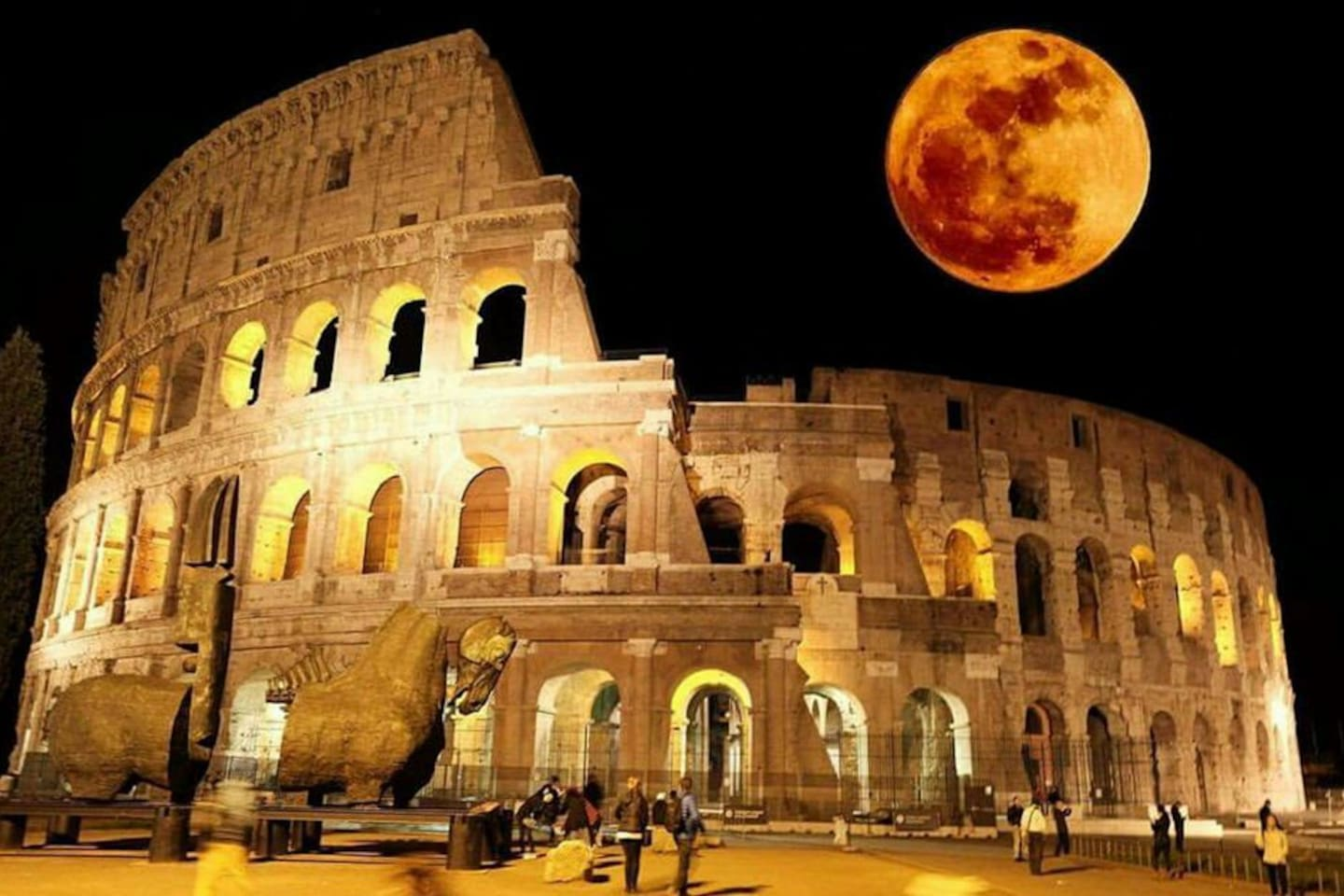 Coloseum by night