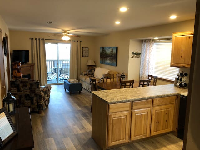 Walk-in lakeview condo next to Silver Dollar City!