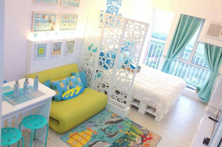 Relaxed Chic-Coastal Inspired unit in Tagaytay - Tagaytay - Appartement